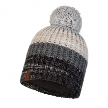 Buff Mütze (Bommel) Strick & Polar Alina grau