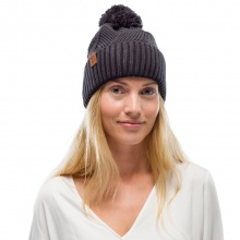 Buff Mütze (Bommel) Strick & Polar Raisa dunkelgrau