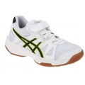 Asics Gel Upcourt Klett weiss Indoorschuhe Kinder