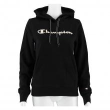 Champion Hoodie Sweatshirt Big Logo Print (gefüttert) 2020 schwarz Damen