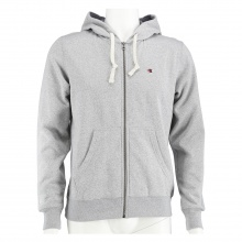 Champion Sweatjacke Hooded Full Zip Logo 2017 grau meliert Herren