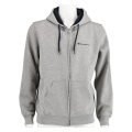 Champion Sweatjacke Hooded Full Zip Small Print 2017 graumeliert Herren