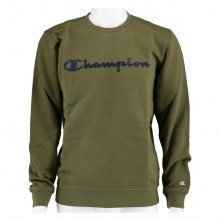 Champion Pullover Crewneck Big Logo armeegrün Herren