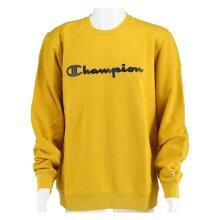 Champion Pullover Crewneck Big Logo gelb Herren