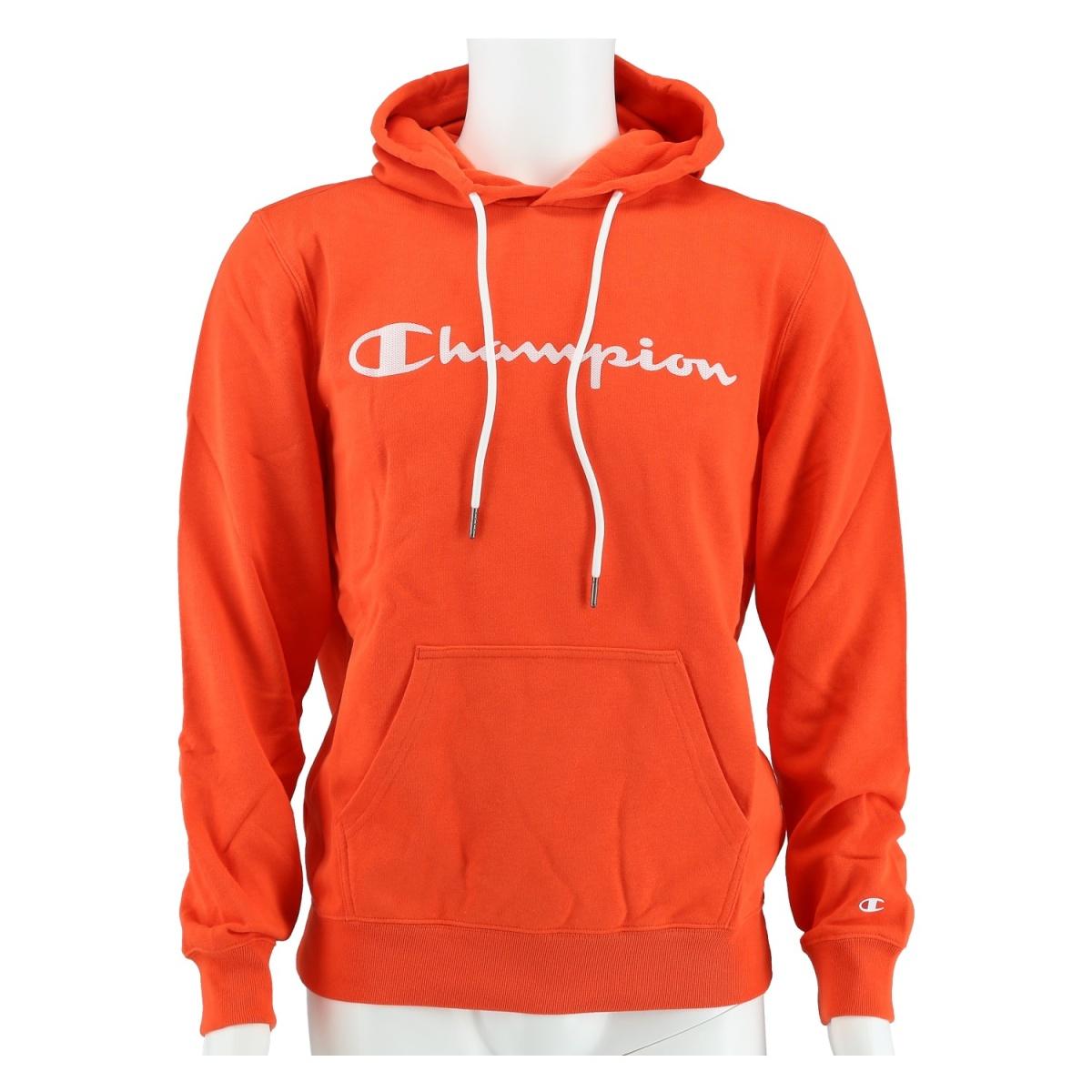 Champion Hoodie Big Logo Print 2020 orange Herren