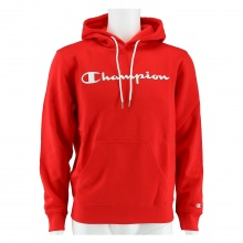 Champion Kapuzenpullover Hoodie Logo Print (gefüttert) feuerrot Herren