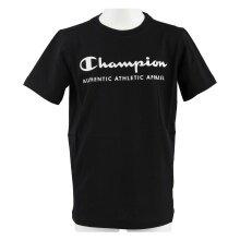 Champion Tshirt Logo Print 2019 schwarz Boys