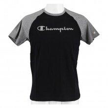 Champion Tshirt (Baumwolle) Duo Colour 2021 schwarz/grau melliert Jungen/Boys
