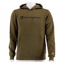 Champion Hoodie Big Logo Print (gefüttert) khaki Jungen