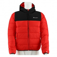 Champion Steppjacke Fullzip Duo Colour mit Kapuze 2020 rot Jungen/Boys