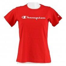 Champion Freizeit-Tshirt (Baumwolle) Classic Big Logo Schriftzug 2021 rot Mädchen/Girls