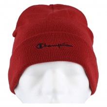Champion Mütze (Beanie) Legacy Knit mit Schriftzug rot 1er