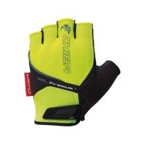 Chiba Fahrrad Handschuhe Gel Premium neongelb/schwarz