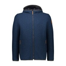 CMP Fleecejacke (Sweatshirt) mit Reißverschluss aus Wooltech blau Herren