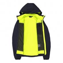 CMP Softshelljacke (winddicht, wasserabweisend) mit Kapuze dunkelblau/gelb Herren