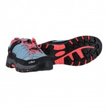 CMP Wanderschuh Rigel Low WP (waterproof/wasserdicht) hellgrau/rosa Kinder