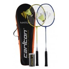 Carlton Badminton Set Match 100 (2x Schläger, 3x Bälle, 1x Hülle)