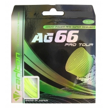 Carlton AG 66 Pro Tour gelb Badmintonsaite