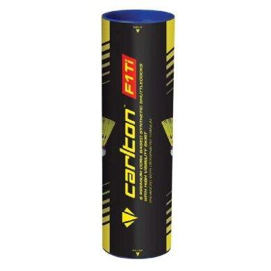 Carlton F1 Ti Badmintonbälle Nylon Korkfuß gelb 6er