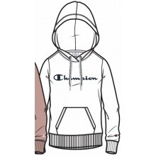 Champion Hoodie Sweatshirt Big Logo Print (gefüttert) 2020 weiss Damen