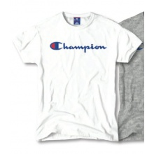 Champion Tshirt Big Print 2018 weiss Herren