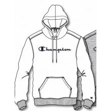 Champion Kapuzenpullover Hoodie Logo Print (gefüttert) 2020 weiss Herren
