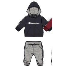 Champion Anzug Full Zip Graphic Logo 2019 navy Kleinkinder
