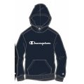 Champion Hoodie Big Logo Print (gefüttert) 2020 navy Jungen