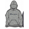 Champion Hoodie Big Logo Print (gefüttert) 2020 hellgrau Jungen