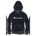 Champion Hoodie Big Logo Print (gefüttert) 2020 schwarz Jungen