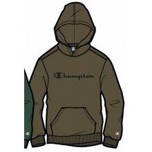 Champion Hoodie Big Logo Print (gefüttert) 2020 khaki Jungen