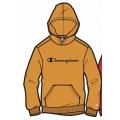 Champion Hoodie Big Logo Print (gefüttert) 2020 orangegelb Jungen