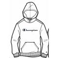 Champion Hoodie Big Logo Print (gefüttert) 2020 weiss Jungen