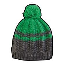 Champion Mütze Legacy Knit Bommel grau/grün Kinder 1er