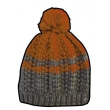 Champion Mütze Legacy Knit Bommel grau/orange Kinder 1er