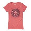 Converse Shirt AWT Distored pink Damen