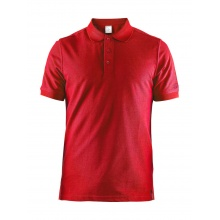 Craft Polo Casual Pique rot Herren