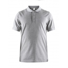 Craft Polo Casual Pique hellgrau Herren