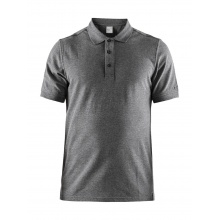 Craft Polo Casual Pique dunkelgrau Herren
