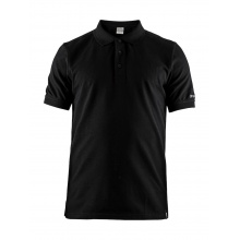 Craft Polo Casual Pique schwarz Herren