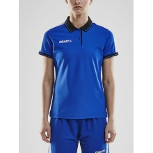 Craft Polo Pro Control cobalt/schwarz Damen