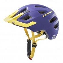 Cratoni Fahrradhelm Maxster PRO #19 Kinder violett/gelb matt