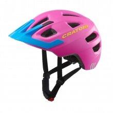Cratoni Fahrradhelm Maxster PRO Kinder pink/blau matt