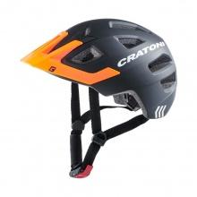 Cratoni Fahrradhelm Maxster PRO Kinder schwarz/orange/weiss matt