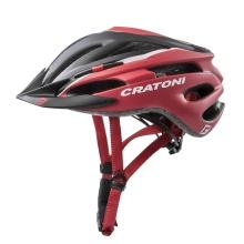 Cratoni Fahrradhelm Pacer schwarz/rot matt