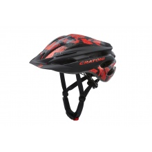 Cratoni Fahrradhelm Pacer Junior schwarz/rot matt