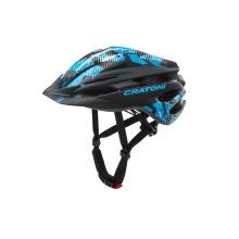 Cratoni Fahrradhelm Pacer Junior schwarz/blau matt