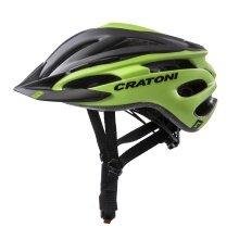Cratoni Fahrradhelm Pacer schwarz/lime matt