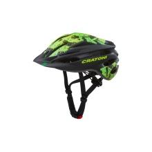Cratoni Fahrradhelm Pacer Junior schwarz/lime matt