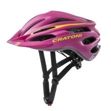 Cratoni Fahrradhelm Pacer pink/gelb matt